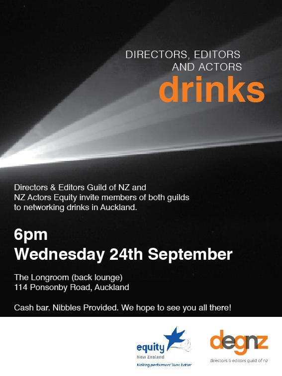 NZ Actors DEGNZ Drinks