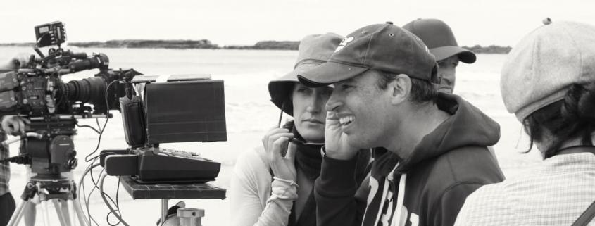 Director Rob Sarkies on set