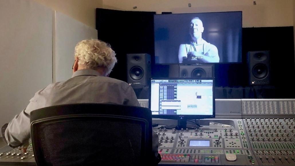 Sound editor John McKay mixing