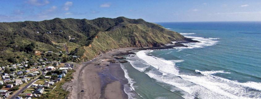 View of a beach coastline